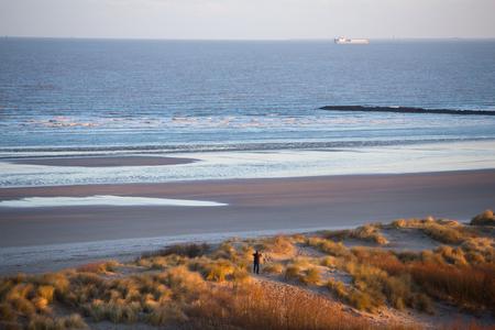 View to the beach, Knokke Heist, Belgium