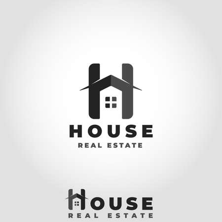 House Logo With Stylish Letter H Concept