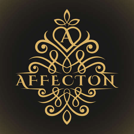 Affection is a Classic Luxurious Lovely Letter A Logo
