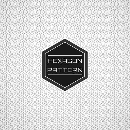 Geometric Seamless Line Art Hexagon Pattern Background.