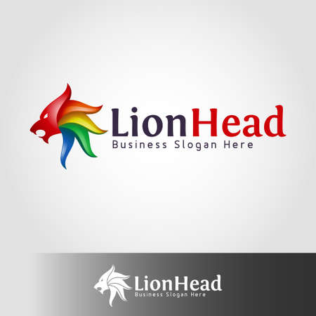 Lion Head Logo Stock Vector - 110847860