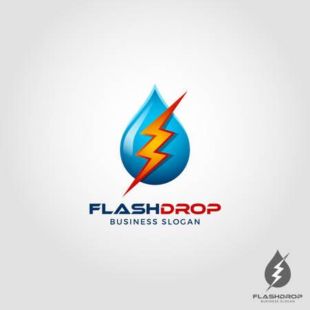 Water Drop & Lightning Bolt Symbol