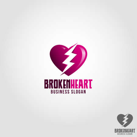 Broken Heart Logo Template