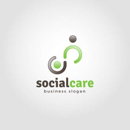 Assistenza sociale - Modello di logo dell'umanità