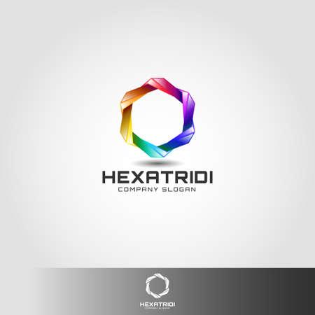 Stylish 3D Hexagon Logo Template Logo