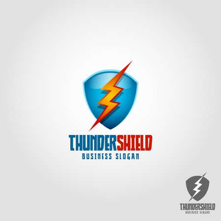 Thunder Shield Logo Template