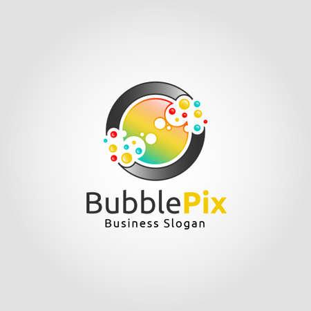Bubble Pixel Logo