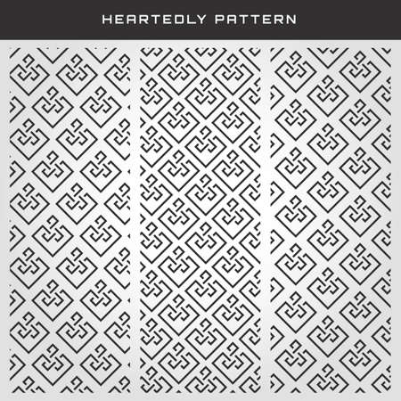 Stylish Heart Pattern 向量圖像