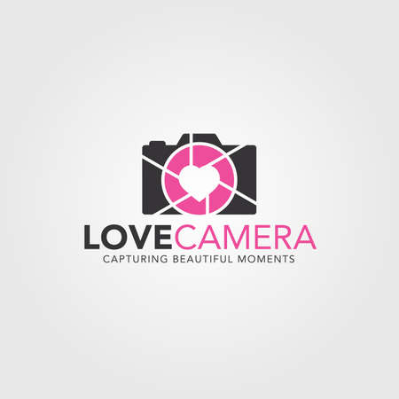 Love camera is stylish photography logo with heart lens concept.  Love camera is a Logo that can be used by professional photographers, wedding photographer, photography studios or companies, related to photography, and many-many other Your business ideas.