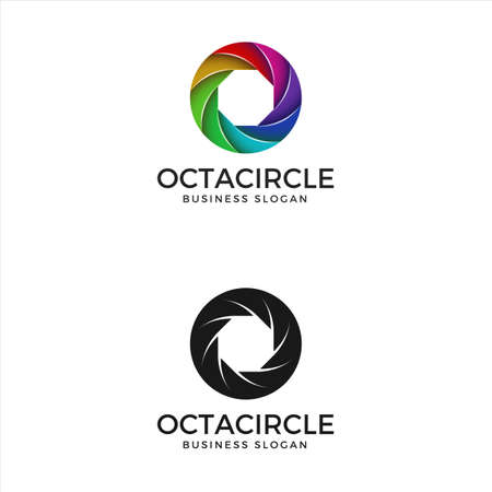 Logo de couleur de cercle d'harmonie abstraite Logo