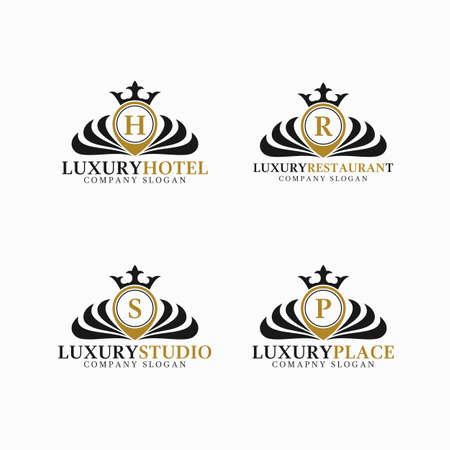 Stylish place logo with classic letter concept