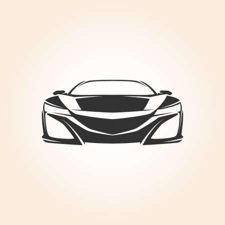 Stylish Front Presentation sport car
