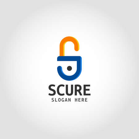 Secure is a padlock Logo with letter S concept