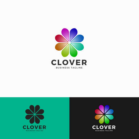 Cover - Heart Flower Logo Template Illustration