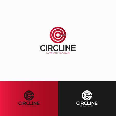 Circle is a Letter C Logo With Line Art Style transform become a circle