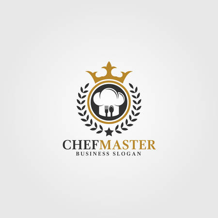 Chef Master is a Stylish professional expert chef or restaurant Logo