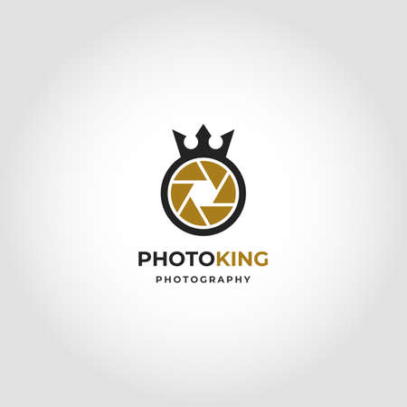 Photo King is a Simple Professional Royal Photography Studio Logo