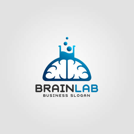 Brain Lab is a Professional science, education and technology logo Imagens - 110944805