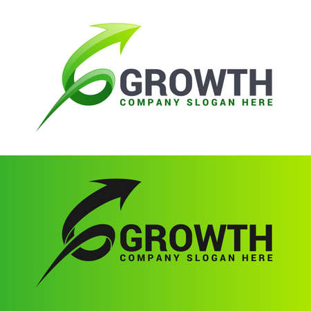 Growth is a stylish Letter G arrow logo