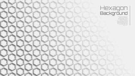 16:9 Light Grey Geometric Star Hexagon Background
