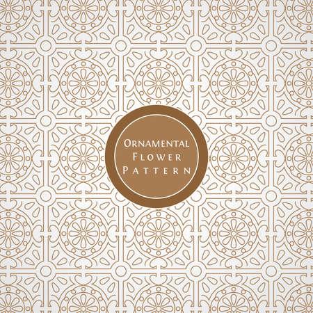 Classic Seamless Ornamental Flower Pattern Background Illustration