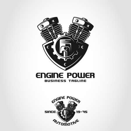 Engine Power est un logo automobile qui peut être utilisé par Auto Company, Auto Club, Auto Workshop, Auto Spare Part Store ou Shop, et de nombreuses autres idées commerciales liées à l'automobile.
