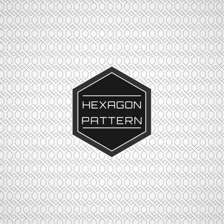 Geometric Seamless Net Line Hexagon Pattern Background Stock Vector - 110945676