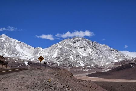 panoramic snow mountain view