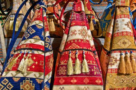 Handmade colorful turkish bags.