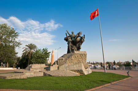 turkiye: Ataturk, the founder of the Turkish Republic has many monuments along Antalya.