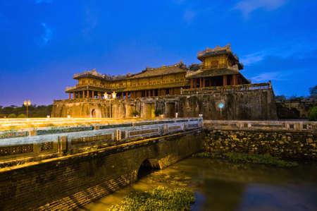 cau: Cau Trung Dao, the entrance to the Hue Royal palace Stock Photo