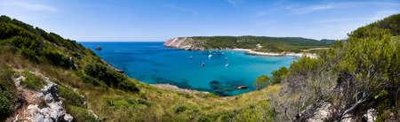 Algairens beach, one of the many idyllic beaches in Minorca Island.