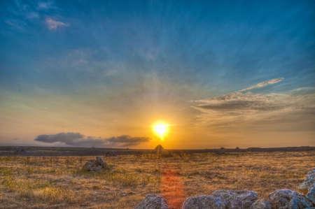 espanya: High dynamic range sunset.