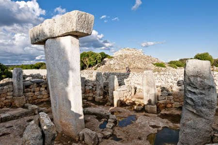 Megalithic settlement at Torralba in Minorca island.