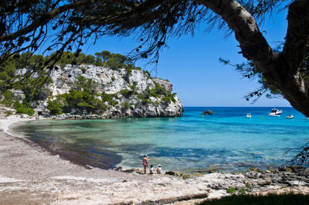 The most representative beach of the south of Minorca.