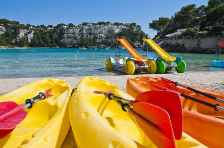 All kind of activities may be performed at every beach in Minorca island.