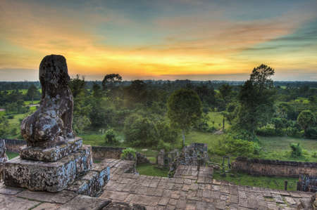 a righteous person: Sunset at Prasat Pre Roup within Angkor temples