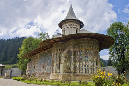 righteous: Voronet, painted monastery of northern Romania Stock Photo