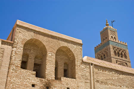 edifices: Koutoubia, the largest mosque in Marrakech, Morocco