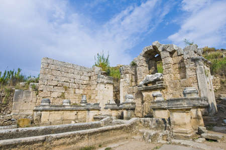 Ancient Perge archaeological site, Turkey Stock Photo - 6942742