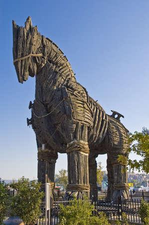 Troy wooden horse at Canakkale, Turkey