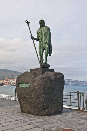 canarias: Guanches indians statues located at Plaza de la Patrona de Canarias at Candelaria, Tenerife Island