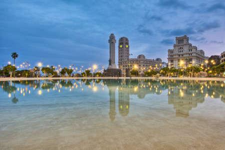 Spain Square located at Santa Cruz de Tenerife, Tenerife Island