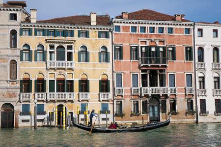 Gondola at Canal Grande located at Venice, Italy Stock Photo