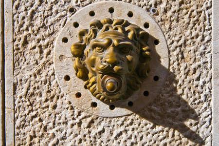 many doors: Detailed typical venetian bronze door bell as seen in many doors at Venice, Italy