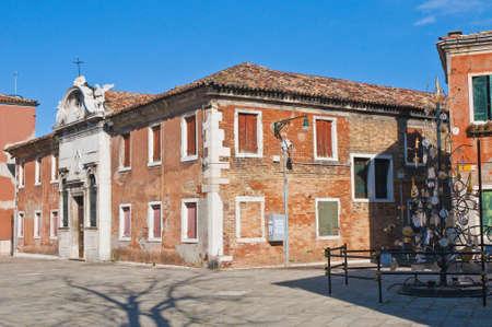 garibaldi: Garibaldi street near vaporetto station at Murano Island, Italy Stock Photo