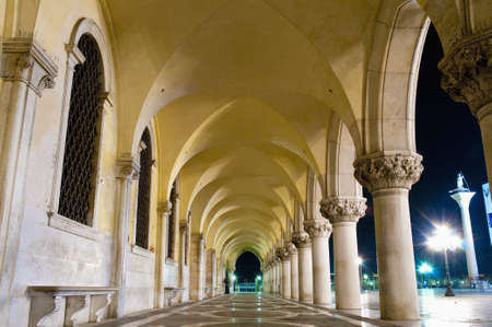 edifices: Palazzo Ducale building hallway located at Venice, Italy Stock Photo