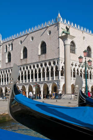 ducale: Palazzo Ducale and gondola pier at Venice, Italy
