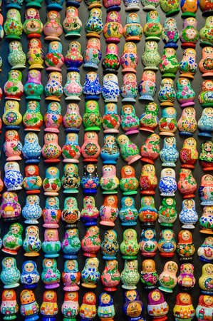 matriosca: Along most populated Prague streets we can find this matryoshka doll magnets, typical on several mid-eastern cultures.