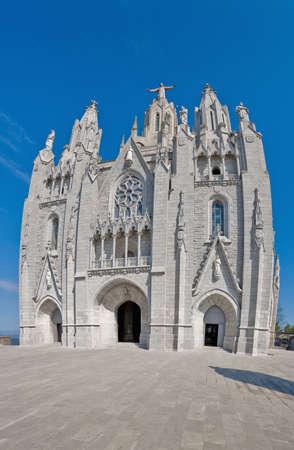 tibidabo: Tibidabo church secondary entrance located at Barcelona, Spain